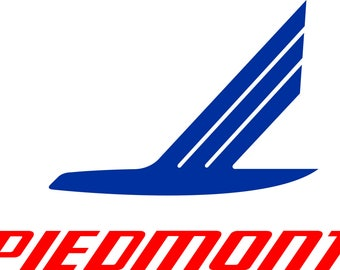 Vintage Piedmont Airline Logo Banner FREE SHIPPING