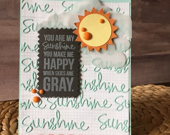 You Are My Sunshine Handmade Card