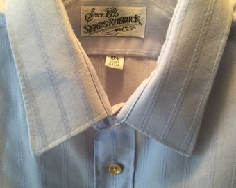 vintage 1970s sears roebucks button down oxford shirt XL