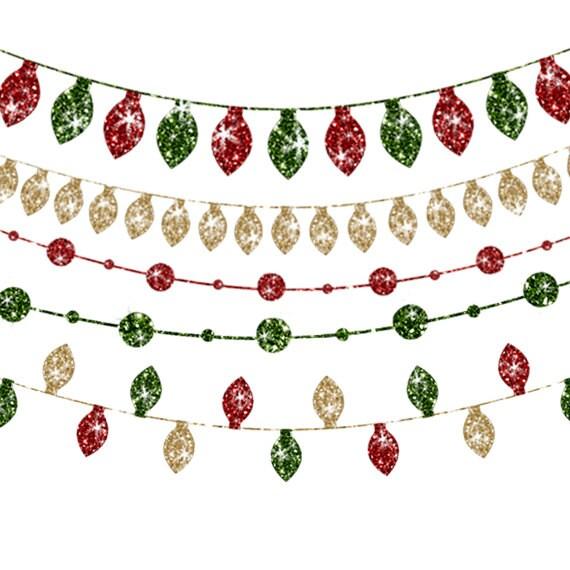 Christmas Lights Clipart Glitter Christmas Lights Christmas