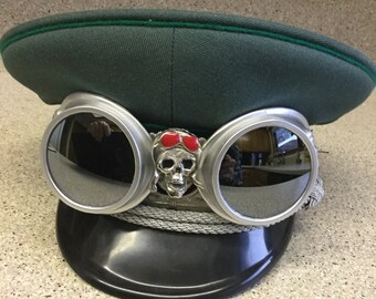 Steampunk Military Goggles  Small Size Hat
