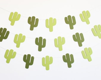 Cactus Party Banner - Customizable Colors