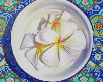 Plumeria Oil Painting