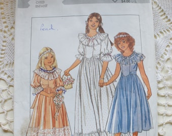 Vintage 80's Childs Bridesmaid Party Dress Size N 4, 5 and 6
