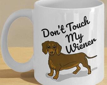 Dachshund, Wiener Dog Gifts Printed Art Mug // Funny Sausage Dog Meme Cup // Daschund Lover Art