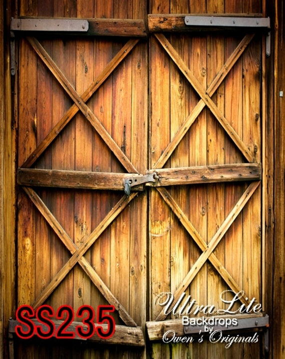 Photography Backdrop Rustic Wood Barn Door Scenic Photo Background