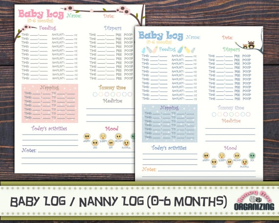 Critical image inside baby daily log printable