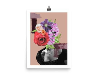 Floral Woman Collage