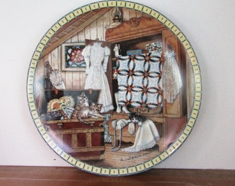 Attic Afternoon, Cozy Country Corners, Collectible Plate, Hannah Hollister Ingmire, Edwin Knowles China Company 1991