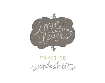 Love Your Letters Practice Worksheets: handwriting class supplement