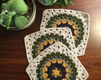 Crocheted Granny Square Trivets