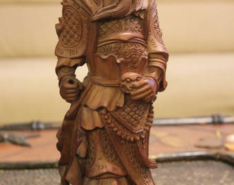 Antique Chinese Carved Boxwood Figure Figurine