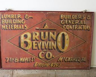 Vintage Construction Trade Sign