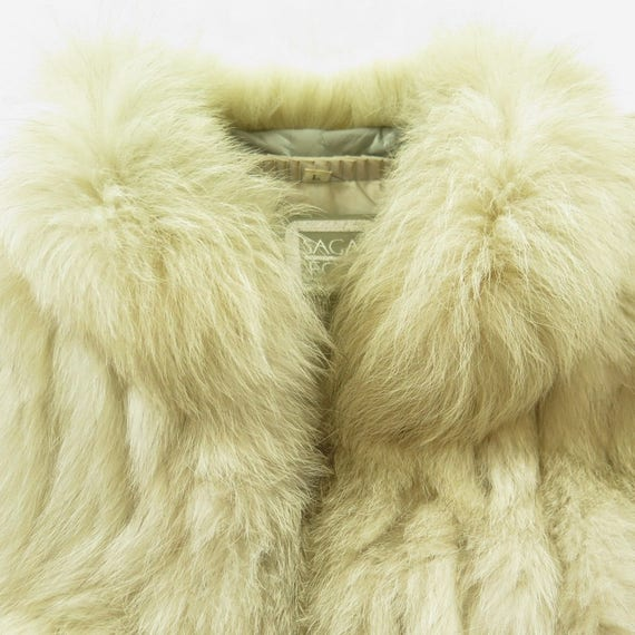 2 H41M fox Ribbed Womens Fur 6 Vintage 80s Saga Jacket Blue Fox Murano Fur L Fox 7vvqOT