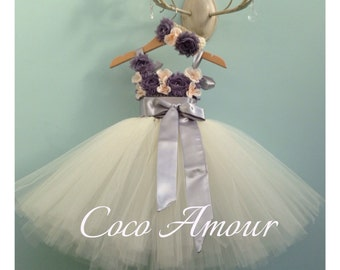 Vintage inspired Tutu Flower Girl Dress, wedding, bridesmaid, tutu dress. Custom made, all ages