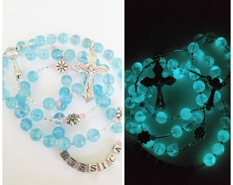 Glow in the dark First Communion Rosary
