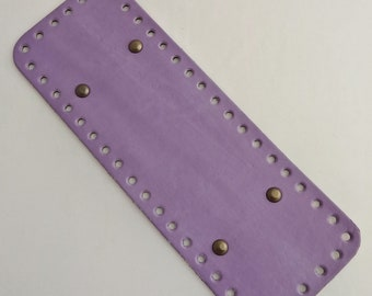 Bottom of bag faux leather purple wisteria.  Drilled special trapilho. REF E / 198