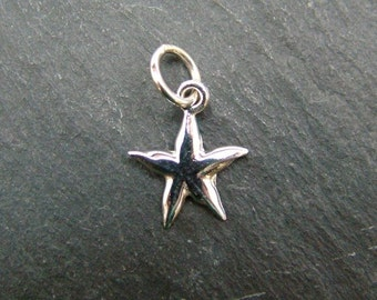 Sterling Silver Starfish Pendant 13mm