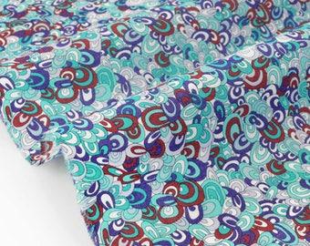 Liberty of London 20% Rainbow rave 70x136cm Mint fabric