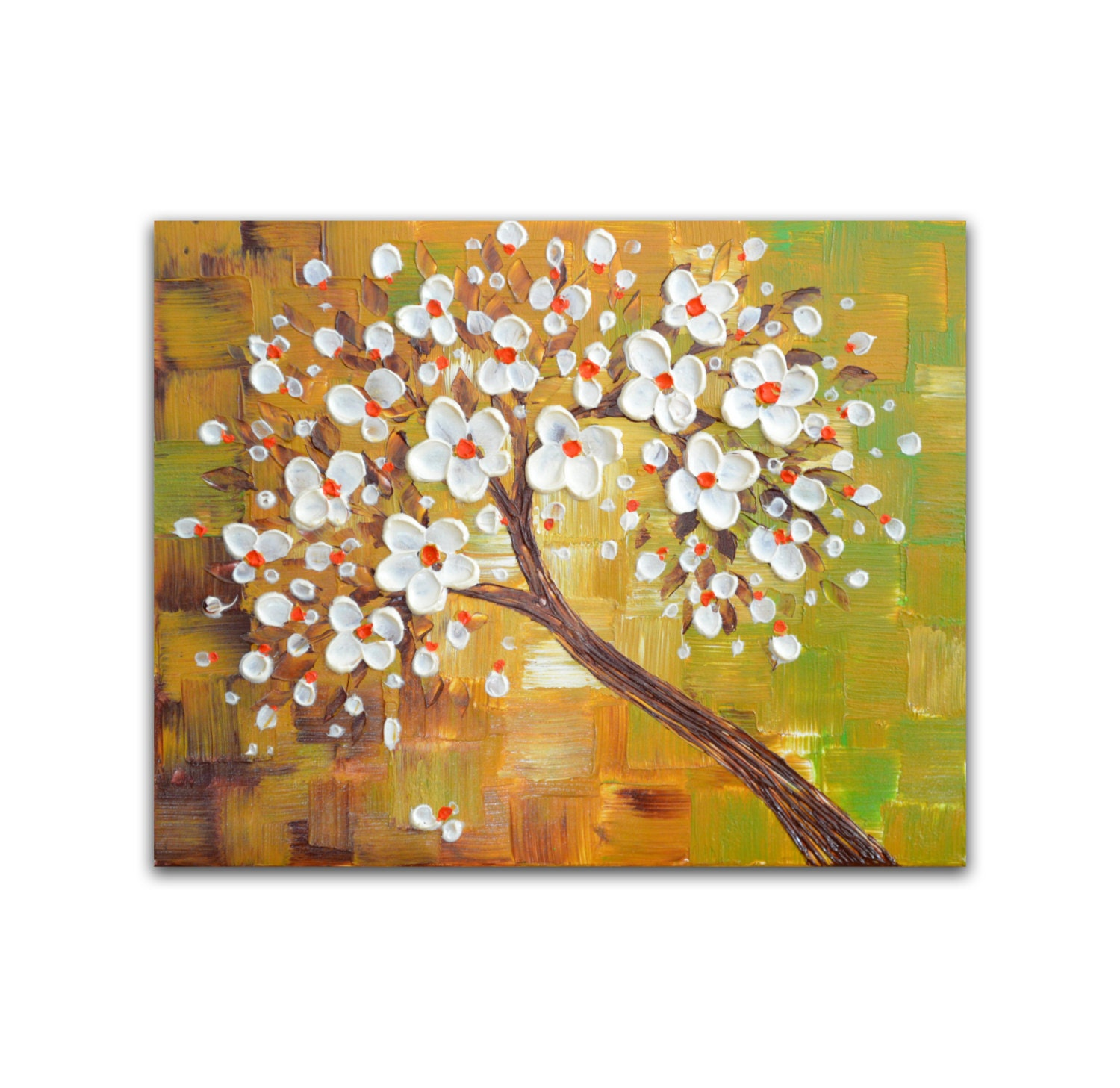 Abstract Tree Painting Impasto Painting Canvas wall art