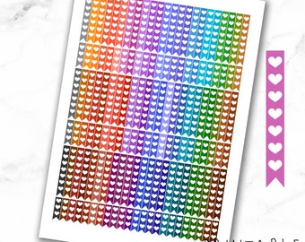 MAMBI Multicolor Heart Checklist Fall Edition | Printable | Planner Stickers for the MAMBI Happy Planner