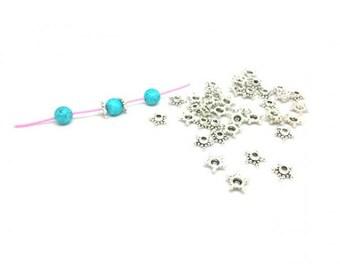 140 9mm star bead caps