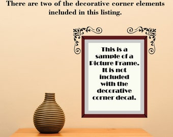 Scroll Element Embellishment 104 Picture Accent Doorway ... Vinyl Wall Decal Sharp Art Deco
