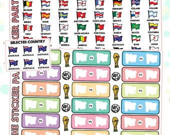 World Cup Planner Stickers Soccer Planner Stickers (READ DESCRIPTION!)