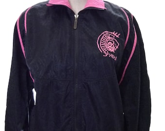 Vintage 80s 90s HEAD Neon Pink Black Ski Hip Hop Small Jacket Coat Small