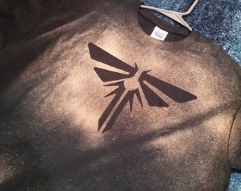 Custom The Last of Us Firefly Inspired Hand Made Bleach T-Shirt Any Size