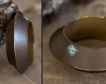 thick brass bangle