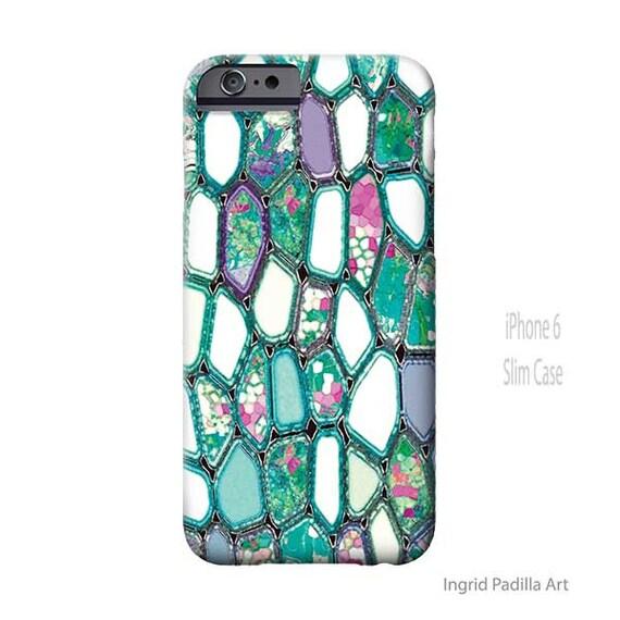 Geometric, iPhone 6s Case, iPhone 8 plus case, Cells, turquoise phone case, Funky Art, iphone 8 case, iPhone 55 case, Note 8 Case, S7 Case