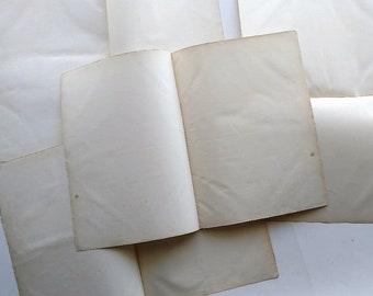 1850 Large Blank Paper - 8 Pieces