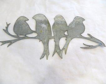 Metal art love birds