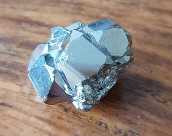 Fabulous  Pyrite Cube Freeform  - Fool's Gold - Energies of good luck & good fortune