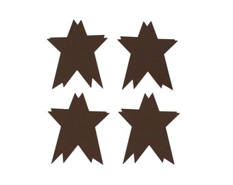 """Rustic Metal Stars- Couple Star- 3"""" 4 piece package of metal stars - Shabby Rustic Wedding Party Home Decor"""