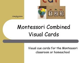 Montessori Visual Schedule Cards - Combined