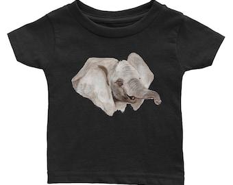 Baby Elephant Zoo Baby Infant Tee