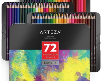 Arteza Professional Watercolor  Pencils (Set of 72)
