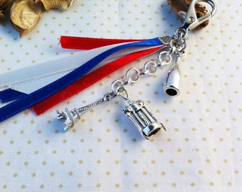 nice little gift, door keys or bag charm, france theme