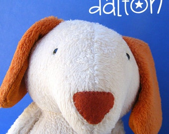 Dalton Dog - Easy Dog Stuffed Animal Pattern (digital PDF pattern)