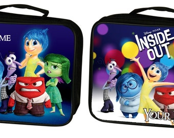 Personalized custom Inside Out insulated lunch bag tote box back to school, work, camping, great for kids