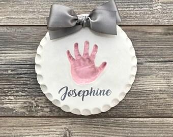 Personalized Baby Handprints - Baby Handprint Mold - Baby Keepsake Handprint Art - Baby Girl Custom Keepsake - Unique Custom Baby Memento