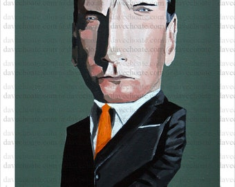 Photo print from an original painting of Mad Men character, Don Draper