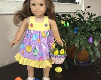 """Easter dress for 18"""" dolls like American Girl"""