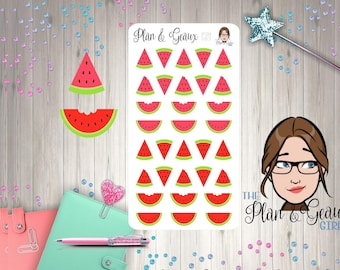 Watermelon Slices Planner Sticker, Watermelon Stickers, Summertime Happy Planner Stickers, FUN-083