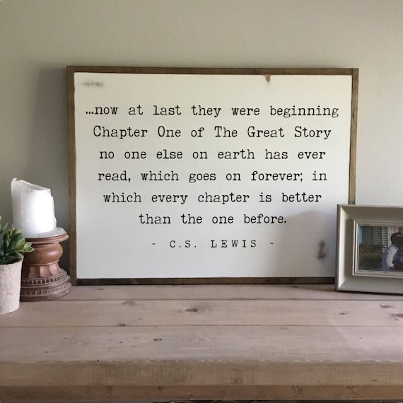"""THE GREAT STORY sign 18"""" x24"""" 