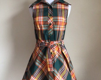 Vintage 60s Plaid Dress