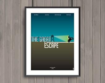 THE GREAT ESCAPE, minimalist movie poster