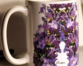 Lavender Large Coffee Mug 15 oz